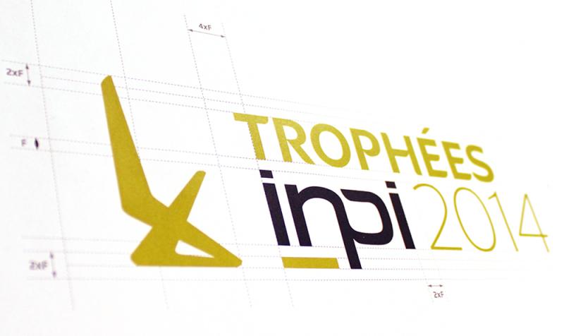Logo INPI Trophées conçu par l'agence secrète