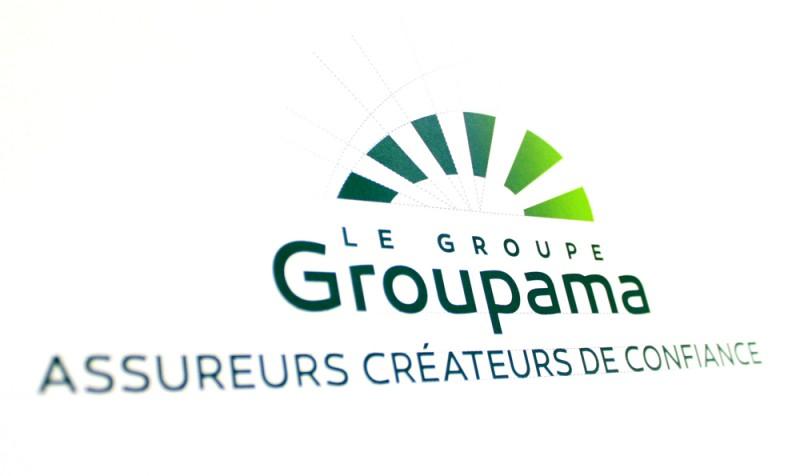 Construction du logo Groupama par l agence secrète