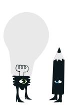 Illustrations agence secrète paris ampoule idée crayon