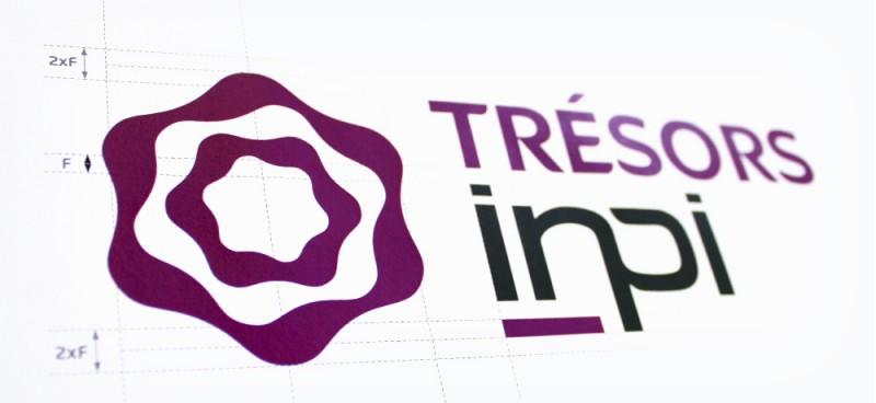 Logo INPI Trésors conçu par l agence secrète paris
