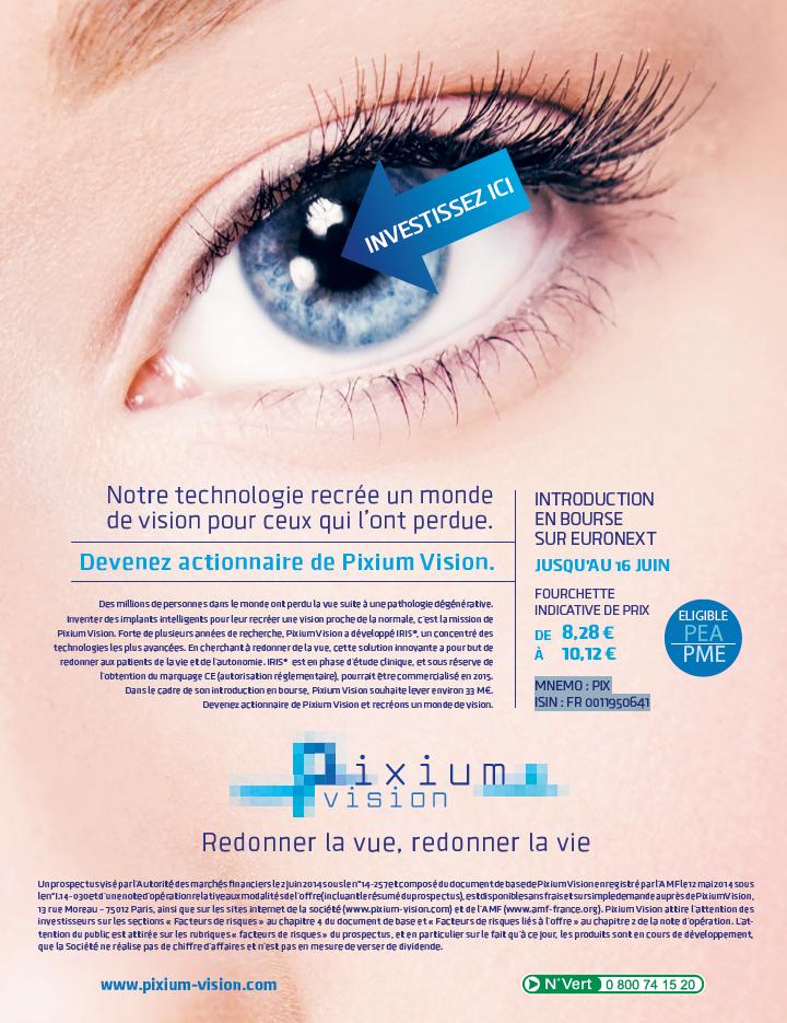 Annonce presse Pixium Vision par l agence secrète