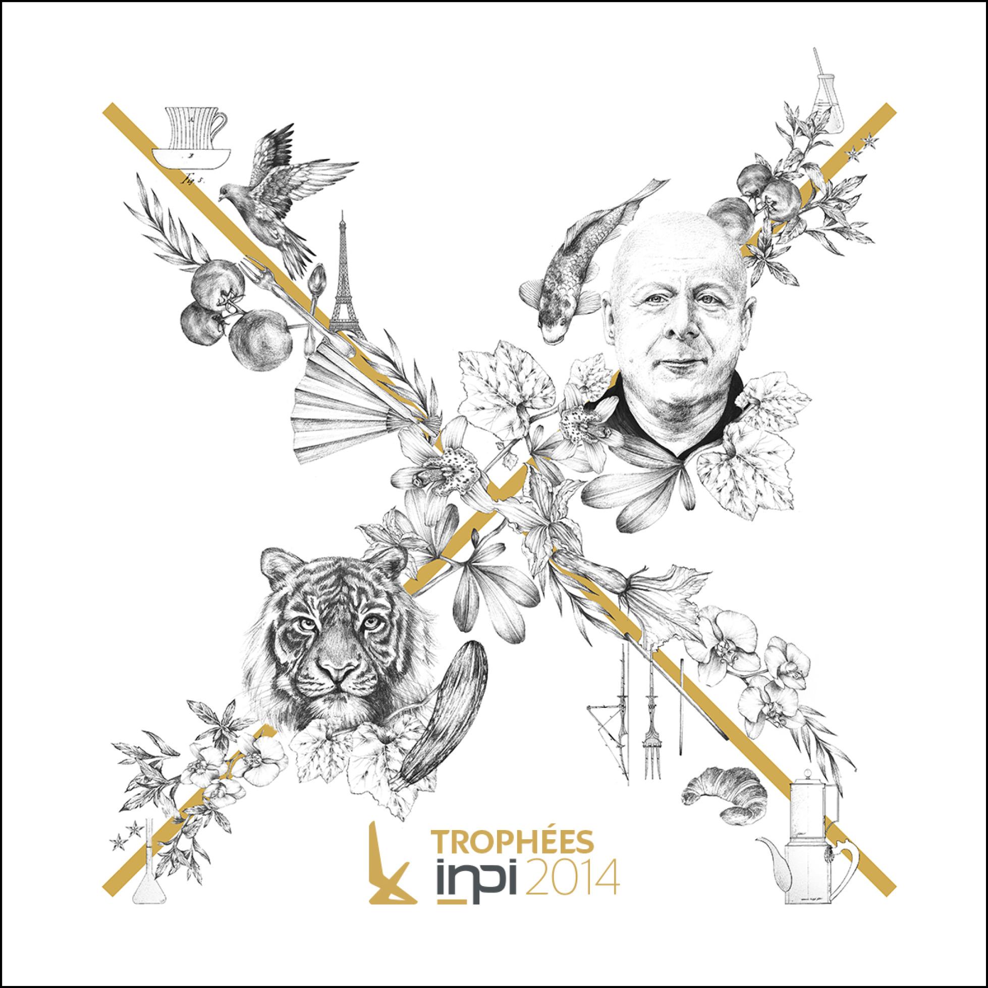 Vignette branding des Trophées INPI 2014 par l agence secrète