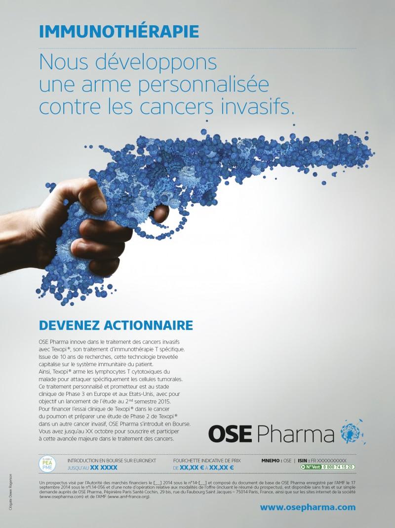 Campagne pour l'actionnariat Ose Pharma agence secrète