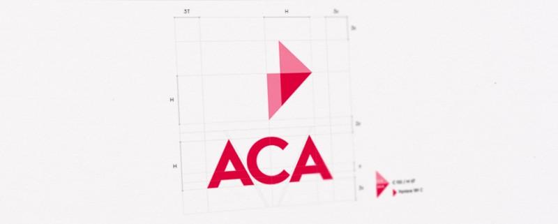Construction du logo ACA par l'agence secrète