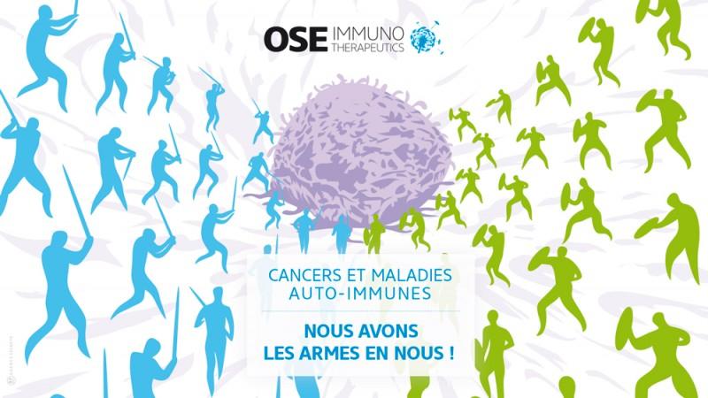Campagne pour Ose Immunotherapeutics conçue par l'agence secrète