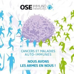 Vignette pour la campagne d Ose Immunotherapeutics conçue par l agence secrète