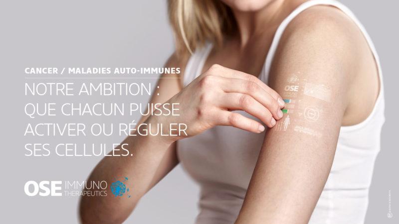 Déclinaison horizontale de la campagne d'Ose Immuno créée par l'agence secrète